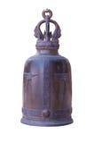 Järnklocka i tempel från den Thailand isolaten Arkivbilder