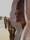 Järnman, offentlig skulptur Royaltyfri Fotografi