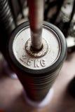 järnplattor staplar vikter Fotografering för Bildbyråer