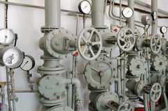 Järnrör för vattenförsörjning Royaltyfri Foto