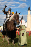 Järnriddare och dam Royaltyfri Fotografi