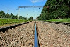 järnstångjärnväg royaltyfri fotografi