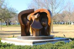 Järnstaty på Kimball Art Museum Fort Worth, Texas Royaltyfria Bilder
