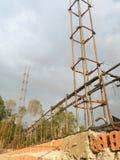 Järnstruktur och tegelstenvägg Royaltyfria Foton