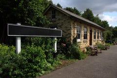 järnväg återställd station Royaltyfri Bild