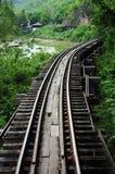 Järnväg över floden Arkivfoto
