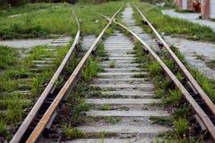 järnväg övergivna gammala stänger Royaltyfri Fotografi
