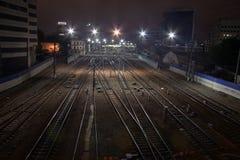 järnväg 01 Fotografering för Bildbyråer