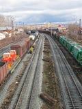 järnväg 2 Fotografering för Bildbyråer