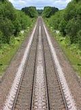 järnväg avståndslinjer Arkivfoton