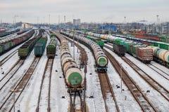 Järnväg bangård Arkivbilder