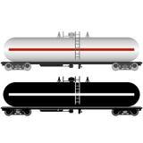 Järnväg behållare Fotografering för Bildbyråer
