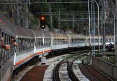 Järnväg Belgrade stång Royaltyfri Foto
