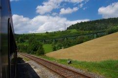 Järnväg bro arkivfoton