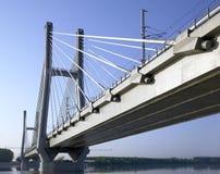 Järnväg bro Arkivbild