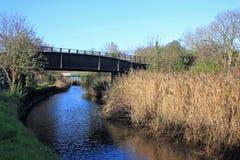 Järnväg bro royaltyfri bild
