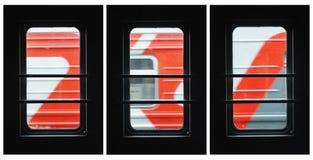 Järnväg collage för ` s Arkivbild