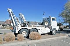 Järnväg Crane Truck Arkivbild