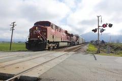 Järnväg Crossing Arkivfoton