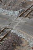 Järnväg Crossing Arkivfoto