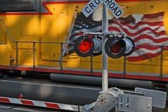 järnväg crossing2 Arkivfoto