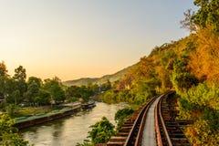 Järnväg dödflod Thailand Arkivbilder