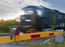 järnväg drev för crossing Arkivbilder