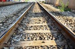Järnväg drev på Thailand Royaltyfri Fotografi