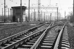 Järnväg elasticiteter royaltyfri fotografi