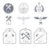 Järnväg emblem Royaltyfria Foton