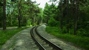 Järnväg för barn` s i parkera royaltyfri fotografi