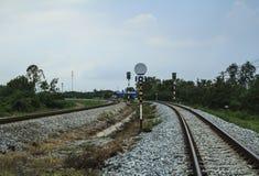 Järnväg för dubbelt spår Arkivfoton