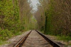 Järnväg förlängning Arkivfoto