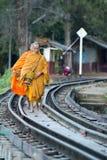 JÄRNVÄG FLOD KWAI FÖR THAILAND KANCHANABURI DÖD Fotografering för Bildbyråer
