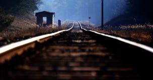 Järnväg från det ovannämnt Royaltyfri Fotografi