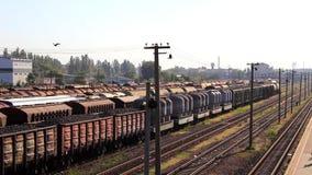 Järnväg fraktdrev arkivfilmer