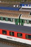 järnväg gård Arkivfoton