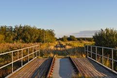 Järnväg i Aalborg Danmark Arkivfoto