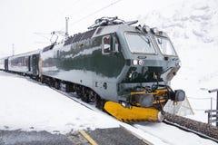 Järnväg i bergen Arkivfoton