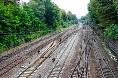Järnväg i Offenburg Royaltyfri Bild