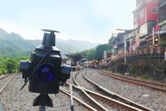 Järnväg i PinXi Arkivbild