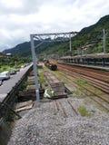 Järnväg i Taiwan Arkivfoto