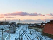 Järnväg infrastruktur Royaltyfri Bild