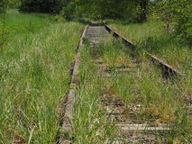 Järnväg inte-använd säng Royaltyfria Foton