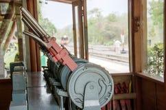 Järnväg kontrollrum Arkivbild