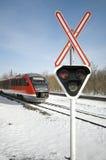 Järnväg korsning Arkivbilder