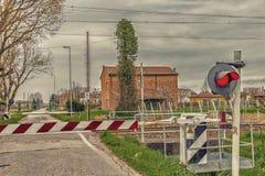 Järnväg korsning för land Royaltyfri Foto