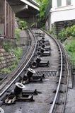 Järnväg kullramp Arkivbild