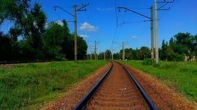 Järnväg kurva Royaltyfri Foto