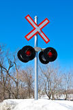 Järnväg lampor Royaltyfria Bilder